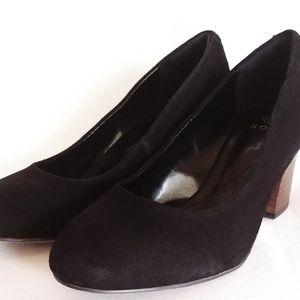 "Isola ""Emmalee"" Black Suede Heel Pumps"